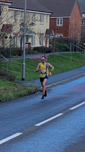 Toby Chapman on his way to breaking the Humdinger Half Marathon course record
