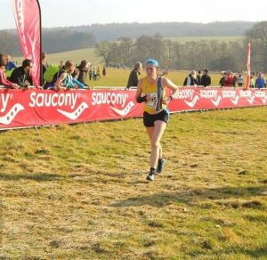 Annette Lewis in the National Cross Country Championships