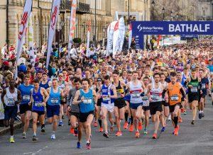 Start of the Bath Half Marathon