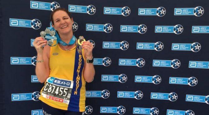 Caroline Rowley after the Tokyo Marathon