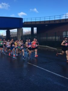 Craig and Tag in a pack during the Vitality Big Half