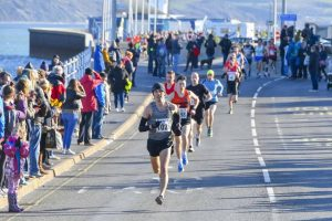 Jacek Cieluszecki leads the way in the Weymouth Half Marathon