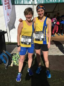 Louise Price and Tamzin Petersen in the Fleet Half Marathon