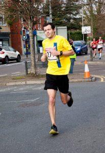 Matt du Cros racing in the Bath Half Marathon
