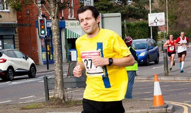 Matt du Cros in the Bath Half Marathon