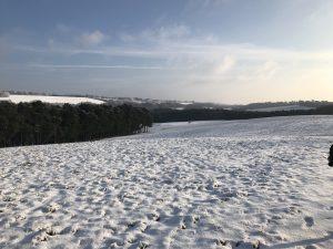 Snowy scenery at Pilgrim Challenge