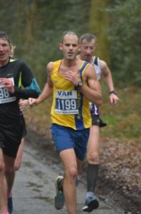 Rich Brawn going well in the Berkhamsted Half Marathon