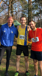 Simon Hearn, Chris Phelan-Heath and Trev Elkins at the Hope Rising Tyrrell Trail Run