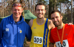 Simon Hearn, Chris Phelan-Heath and Trev Elkins in the Tyrrell Trail XC Run