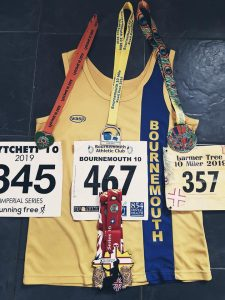 Steve Parsons' medals and numbers for Imperial Series