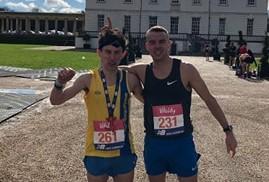 Rob McTaggart and Craig Palmer took on the Vitality Big Half