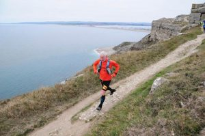 Andy Gillespie on day 1 of the Jurassic Coast Challenge