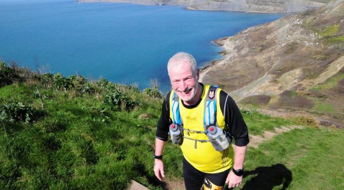 Andy Gillespie on day 3 of the Jurassic Coast Challenge
