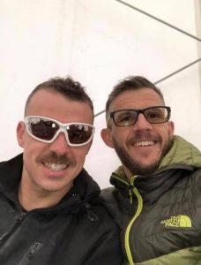Craig Palmer and Ant Clark at the Manchester Marathon