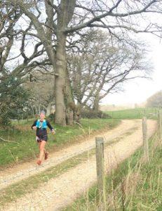Ela Cieluszecka in the Dorset Ooser Half Marathon