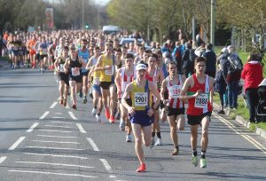 Front of the field in Eastleigh 10k