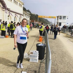 Gemma Vincent after the Bournemouth Bay Run 5k