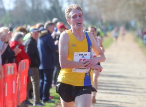 Josh King comes into the finish at Eastleigh 10k