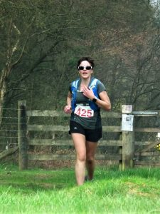 Kirsty Drewett in the Ooser Half Marathon