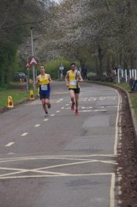 Robert Farley and Toby Chapman out in front at the Taunton Marathon