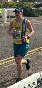 Sam Laws in the Bournemouth Bay Run Half Marathon