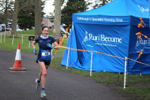 Sophie Mullins won the women's race in the Self Transendence 100k