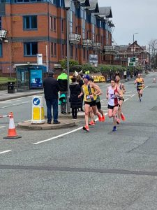 Steve Way and Ant Clark in the Manchester Marathon