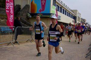 Rob McTaggart in the Bournemouth Bay Run Half Marathon