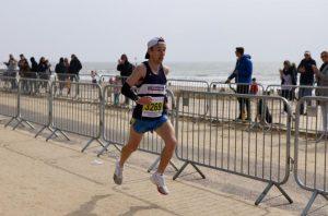 Rob McTaggart crusing along the promenade in the Bournemouth Bay Run Half Marathon