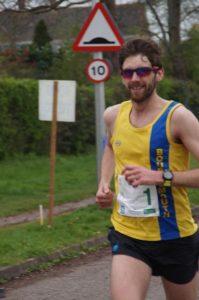 Toby Chapman winning the Taunton Marathon
