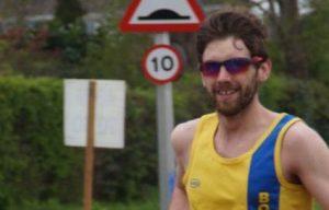 Toby Chapman in the Taunton Marathon