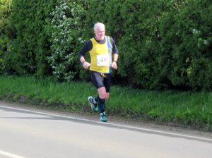 Andy Gillespie battles the North Dorset Village Marathon