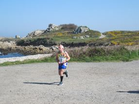 Dave Parsons in the Guernsey Easter Run Stonecrusher XC Relay