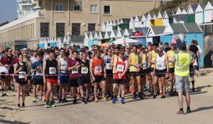 Start line of the Rotary East Cliff Easter Quarter Marathon