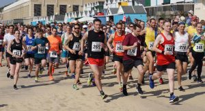 The Rotary East Cliff Easter Quarter Marathon gets underway