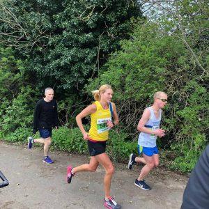 Emma Caplan in the Peterborough Marathon