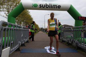 Emma Caplan gave it all she's got at the Peterborough Marathon