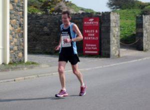 Geoff Scott in the Guernsey Easter Run 10k