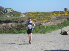 Geoff Scott in the Guernsey Easter Run Stonecrusher XC Relay