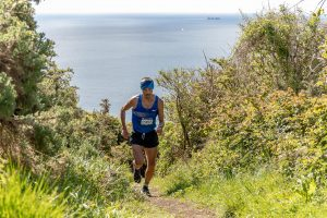 Jacek Cieluszercki takes on the 'Short' race at the Maverick inov-8 Original Dorset