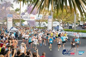 Start of the Wings for Life World Run in Sunrise, Florida