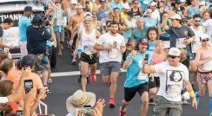Jacek Cieluszecki starts the Wings for Life World Run in Sunrise, Florida