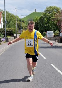 Julian Oxborough enjoying the Glastonbury Round the Tor 10k