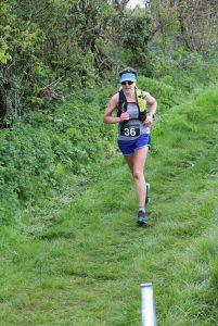 Kirsty Drewett at the Hellstone Marathon