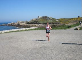 Lisa Evans in the Guernsey Easter Run Stonecrusher XC Relay