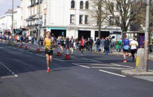 Stu Nicholas races along in the Brighton Marathon