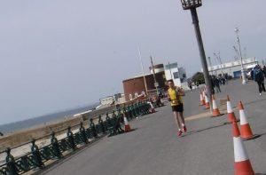 Stu Nicholas gets some seaside air in the Brighton Marathon