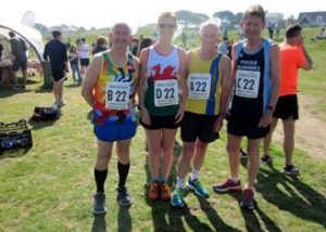 The Peninsulists in the Guernsey Easter Run Stonecrusher XC Relay