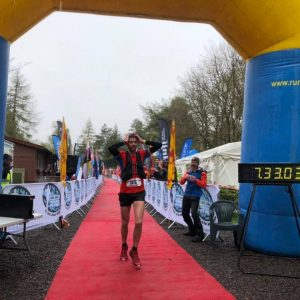 Toby Chapman finishes the Highland Fling