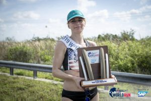 Wioletta Paduszynska of Poland wins Wings for Life World Run at Sunrise, Florida